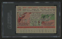 1956 Topps #135 Mickey Mantle (SGC Authentic) at PristineAuction.com