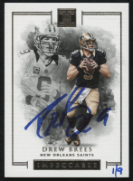 2018 Panini Honors Recollection Collection #395 Drew Brees #1/9 2016 Impeccable Base Autograph #78 at PristineAuction.com