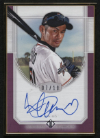 2017 Topps Transcendent Autographs Purple #TCAI Ichiro / White Jersey with Bat #07/10 at PristineAuction.com