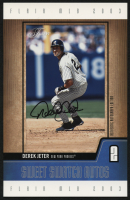 2003 Flair Sweet Swatch Autograph Jumbo #DJ Derek Jeter #105/312 at PristineAuction.com