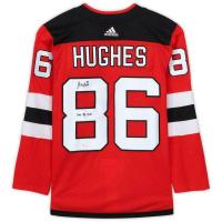 "Jack Hughes Signed New Jersey Devils Jersey Inscribed ""2019 #1 Pick"" (Fanatics Hologram) at PristineAuction.com"