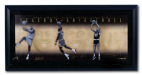Michael Jordan, Larry Bird & Magic Johnson Signed 15x18 Custom Framed LE Photo (UDA COA)