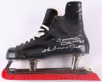 """Bobby Hull Signed CCM Player Model Ice Skate Inscribed """"The Golden Jet"""" (Schwartz COA)"""