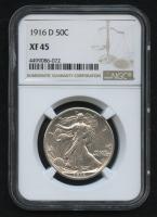 1916-D 50¢ Walking Liberty Silver Half Dollar (NGC XF 65) at PristineAuction.com