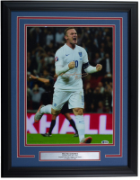 Wayne Rooney Signed England 16x22 Custom Framed Photo Display (Beckett COA) at PristineAuction.com