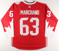 Brad Marchand Signed 2016 WCH Team Canada Jersey (Marchand COA) at PristineAuction.com