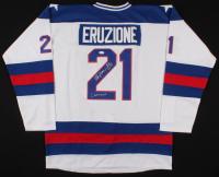 "Mike Eruzione Signed Team USA Captain's Jersey Inscribed ""80 Gold"" & ""Captain"" (JSA COA)"