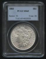 1883 $1 Morgan Silver Dollar (PCGS MS 65) at PristineAuction.com