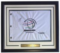 Sergio Garcia Signed Bridgestone Invitational 22x27 Custom Framed Pin Flag Display (JSA COA) at PristineAuction.com