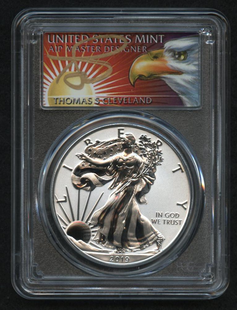 2019 W 1 American Eagle Silver Dollar 5 Oz Fine Silver