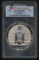 2010 5oz Silver Jumbo 25¢ - Hot Springs - Arkansas - America The Beautiful - ATB - Jumbo Quarter - First Strike (PCGS MS 69 PL) at PristineAuction.com