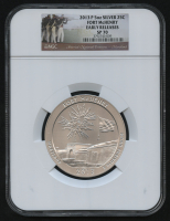 2013-P 5oz Silver Jumbo 25¢ - Fort McHenry - Maryland - America's National Treasures - Jumbo Quarter - Early Releases (NGC SP 70) at PristineAuction.com