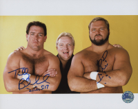 """Tully Blanchard & Arn Anderson Signed WWE 8x10 Photo Inscribed """"4"""" (Pro Player Hologram)"""