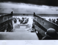 """Historical Photo Archive - World War II """"D-Day"""" Limited Edition 23x28 Custom Framed Fine Art Giclee on Paper (PCV COA) at PristineAuction.com"""