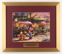 "Thomas Kinkade Walt Disney's ""Mickey & Minnie Mouse"" 15.5x18 Custom Framed Print Display at PristineAuction.com"