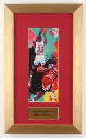 "LeRoy Neiman ""Michael Jordan"" 10x16.5 Custom Framed Print Display"