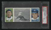 1912 Hassan Triple Folders T202 #103 Scrambling Back to First / Cy Barger / Bill Bergen (PSA 6) at PristineAuction.com