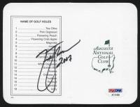 "Zach Johnson Signed Masters Augusta National Golf Club Scorecard Inscribed ""2007"" (PSA Hologram) at PristineAuction.com"