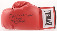 "James ""Buster"" Douglas Signed Everlast Boxing Glove Inscribed ""I Shocked the World"" & ""2/11/90"" (Schwartz COA) at PristineAuction.com"
