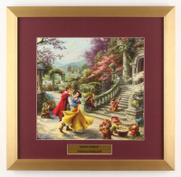 "Thomas Kinkade Walt Disney's ""Snow White and the Seven Dwarfs"" 17.5x18 Custom Framed Print Display at PristineAuction.com"