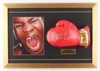 Mike Tyson Signed 16x23 Custom Framed Boxing Glove Display (PSA COA)