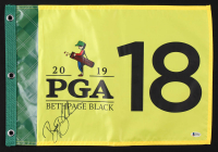 Bryson DeChambeau Signed 2019 PGA Championship Golf Pin Flag (Beckett COA) at PristineAuction.com