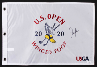 Dustin Johnson Signed 2020 U.S. Open Championship Golf Pin Flag (JSA COA) at PristineAuction.com