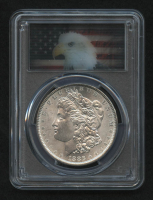 "1886 Morgan Silver Dollar (PCGS MS64) (Lenticular ""Hologram"" ""Action Vu"" Eagle Label) at PristineAuction.com"