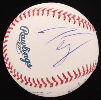 OML Baseball Signed By (6) with Danai Gurira, Scott Wilson, Katelyn Nacon (JSA COA) at PristineAuction.com