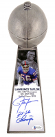 "Lawrence Taylor Signed New York Giants 15"" Lombardi Football Championship Trophy Inscribed ""2x SB Champs"" (Beckett COA) at PristineAuction.com"