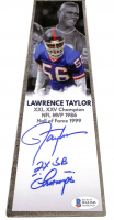 """Lawrence Taylor Signed Giants 15"""" Lombardi Football Championship Trophy Inscribed """"2x SB Champs"""" (Beckett COA) at PristineAuction.com"""