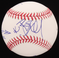 OML Baseball Signed By (5) with Stephen Amell, Willa Holland, David Ramsey, Katie Cassidy & Echo Kellum with Character Inscriptions (JSA COA) at PristineAuction.com