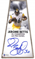 """Jerome Bettis Signed Pittsburgh Steelers 15"""" Lombardi Football Championship Trophy (Beckett COA) at PristineAuction.com"""