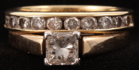 14kt Yellow Gold Diamond Bridal Set at PristineAuction.com
