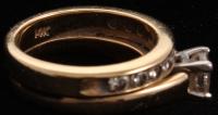 14kt Yellow Gold Diamond Bridal Set at PristineAuction.com