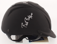 "Mike Smith, Bob Baffert & Victor Espinoza Signed Full-Size Matte Black Equestrian Racing Helmet Inscribed ""T.C."" (PSA Hologram) at PristineAuction.com"
