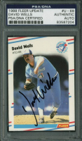 David Wells Signed 1988 Fleer Update #69 RC (PSA Encapsulated) at PristineAuction.com