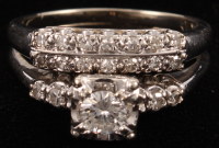 14Kt White Gold & Diamond Two Piece Wedding Set at PristineAuction.com