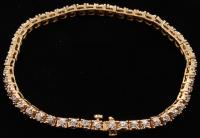 14Kt Yellow Gold Line Bracelet at PristineAuction.com