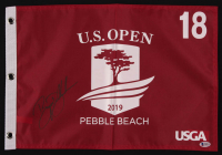 Bryson DeChambeau Signed 2019 U.S. Open Pebble Beach 18th Hole Golf Pin Flag (Beckett COA) at PristineAuction.com