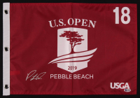 Patrick Reed Signed 2019 U.S. Open Pebble Beach 18th Hole Golf Pin Flag (Beckett COA) at PristineAuction.com