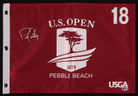 Patrick Cantlay Signed 2019 U.S. Open Pebble Beach 18th Hole Golf Pin Flag (Beckett COA) at PristineAuction.com