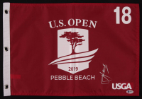 Cameron Smith Signed 2019 U.S. Open Pebble Beach 18th Hole Golf Pin Flag (Beckett COA) at PristineAuction.com
