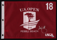 Adam Scott Signed 2019 U.S. Open Pebble Beach 18th Hole Golf Pin Flag (Beckett COA) at PristineAuction.com