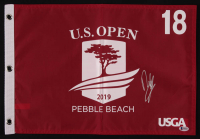 Francesco Molinari Signed 2019 U.S. Open Pebble Beach 18th Hole Golf Pin Flag (Beckett COA) at PristineAuction.com