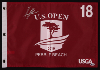 Henrik Stenson Signed 2019 U.S. Open Pebble Beach 18th Hole Golf Pin Flag (Beckett COA) at PristineAuction.com
