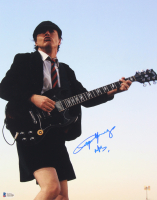 "Angus Young Signed 11x14 Photo Inscribed ""ACDC"" (Beckett LOA) at PristineAuction.com"