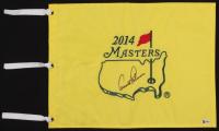 Arnold Palmer Signed 2014 Masters Golf Pin Flag (Beckett LOA & JSA ALOA) at PristineAuction.com