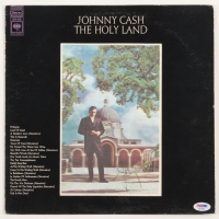 "Johnny Cash Signed ""The Holy Land"" Vinyl Album Cover (PSA COA) at PristineAuction.com"