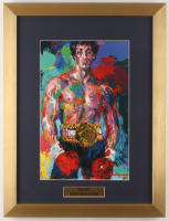 "LeRoy Neiman ""Rocky"" 14.5x19 Custom Framed Print Display at PristineAuction.com"